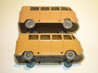 Budgie Miniatures No.12 VW Micro Bus - tan, wheel variations