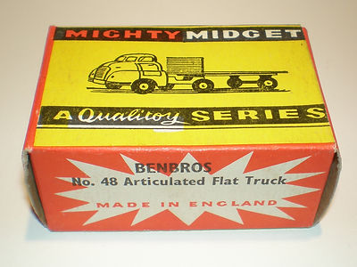 Benbros Mighty Midget No.48 Flat Truck with Chains box