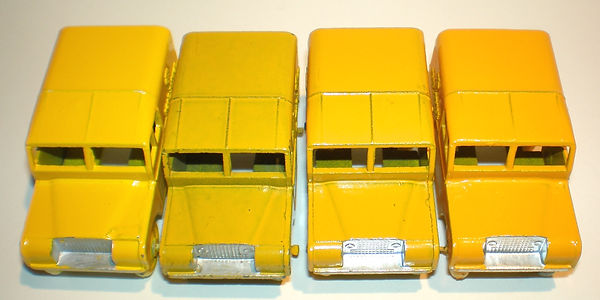 Benbros No.34 AA Road Service Land Rover - colour variations
