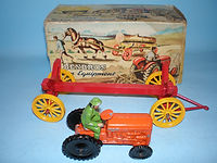 Benbros Qualitoys Tractor with Log Trailer
