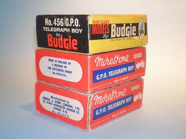 Budgie No.456/GPO Telegraph Boy box variations