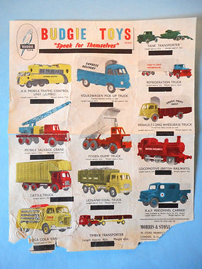 Budgie Toys Leaflet 1959 - Third Issue variation