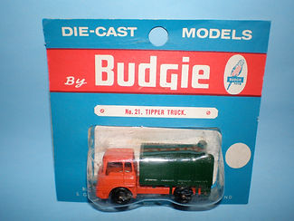Budgie Miniatures No.21a Tipper Truck - blue blister-pack