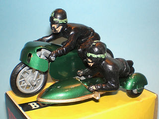 Budgie No.264 Racing Motorcycle Sidecar Combination Outfit