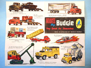 Budgie Models Leaflet 1962 - First Issue