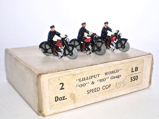 Britains Lilliput World Vehicle Series LB/550 Police Speed Cops Trade box
