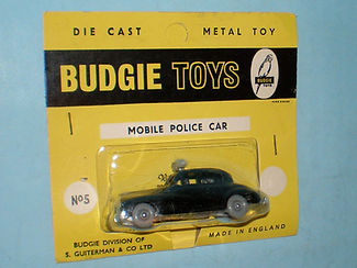 Budgie Miniatures No.5 Police Car - yellow blister-pack