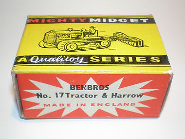Benbros No.17 Tractor & Harrow Mighty Midget box