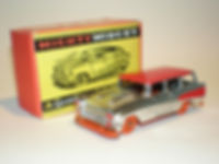 Benbros Mighty Midget No.16 Station Wagon - chrome, red roof, orange base