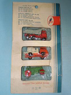 Budgie Miniatures No.96A Road Construction Set (reverse)