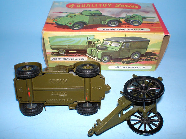 Benbros Qualitoy Armoured Car & Field Gun