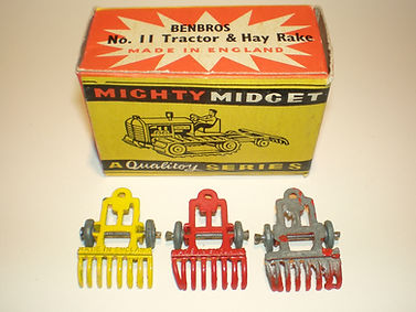 Benbros No.11 Tractor & Hay Rake - rake variations