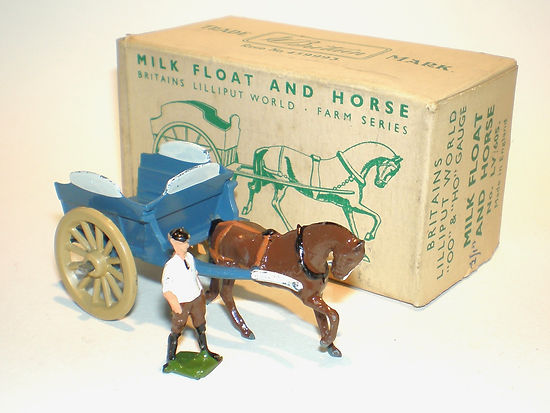 Britains Lilliput World Vehicle Series LV/605 Milk Float & Horse