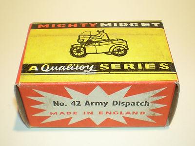 Benbros No.42 Army Despatch Motorcycle Mighty Midget box