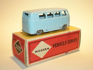 Budgie Miniatures No.12 VW Micro Bus - gpw, Modern (type 1) box
