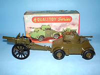 Benbros Qualitoys A105 Armoured Car and Field Gun