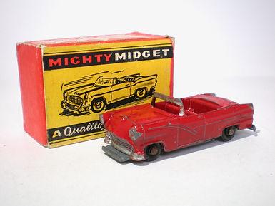 Benbros Mighty Midget No.40 Ford Convertible - dark-red