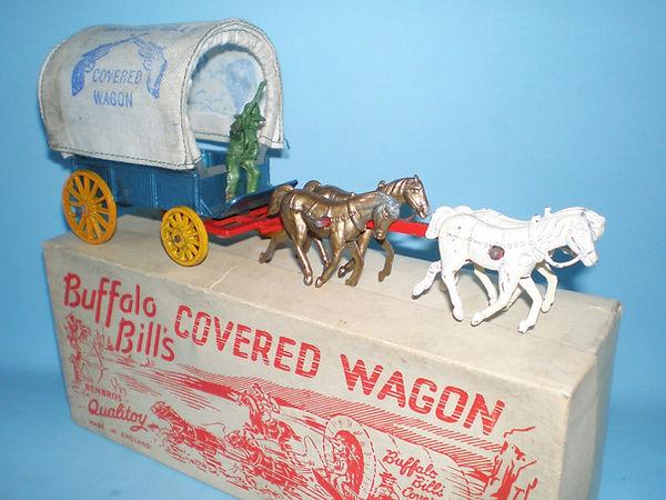 Benbros Qualitoys Buffalo Bill's Covered Wagon