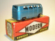 Budgie Miniatures No.12 VW Micro Bus - metallic blue, Modern (type 2) box