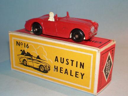 Budgie Miniatures No.16 Austin-Healey - bpw, Modern (type 1) box