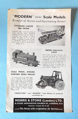 Morestone (Morris & Stone) Trade Leaflet