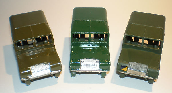 Benbros No.35 Army Land Rover - colours & front decal