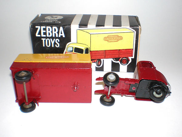 Benbros Zebra Toys Railway Articulated Van
