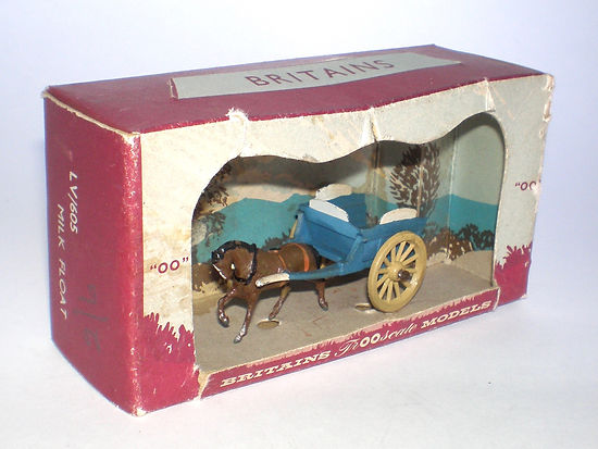 Britains LV/605 Milk Float Cart in Open-Fronted box