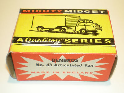 Benbros Mighty Midget No.43 Articulated Van box