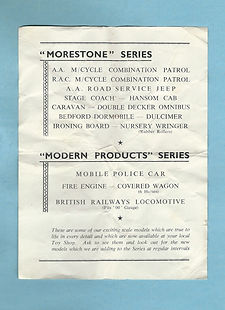 Morestone (Morris & Stone) Leaflet