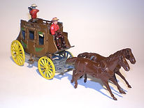 Morestone Galloping Horses Stage Coach