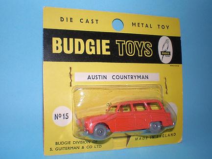 Budgie Miniatures No.15 Austin Countryman - dark gpw, yellow blister-pack