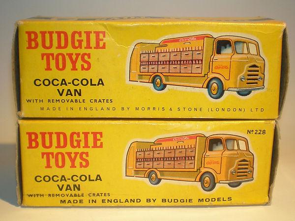 Budgie No.228 Coca-Cola Van boxes