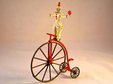 Morestone Clown on Penny Farthing