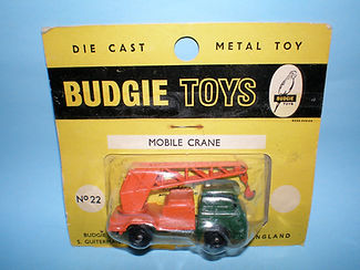 Budgie Miniatures No.22a Mobile Crane - yellow blister-pack