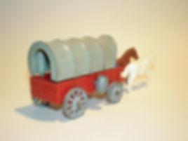 Budgie Miniatures Wagon Train Covered Wagon