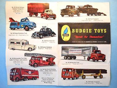 Budgie Toys Leaflet 1961