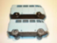 Budgie Miniatures No.12 VW Micro Bus - pale blue, wheel variations