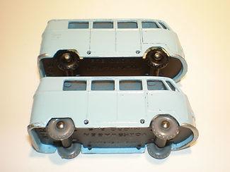 Budgie Miniatures No.12 VW Micro Bus - pale blue, wheel variations