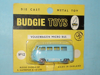 Budgie Miniatures No.12 VW Micro Bus - yellow blister-pack