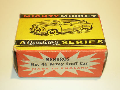 Benbros No.41 Army Staff car Mighty Midget box