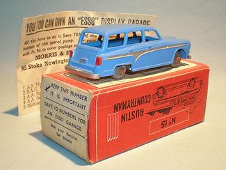 Morestone Esso Petrol Pump Series No.15 Austin Countryman - blue variation