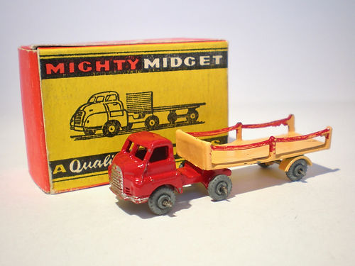 Benbros Mighty Midget No.48 Articulated Flat Truck with Chains