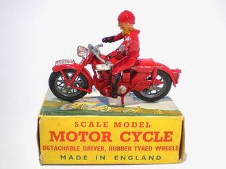 Benbros Qualitoy Motorcycle Rally Rider - red bike