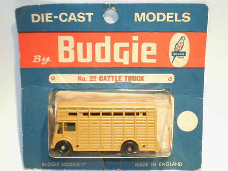 Budgie Miniatures No.22b Cattle Truck - blue 'Budgie Models' blister-pack