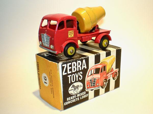 Benbros Zebra Toys Ready-Mixed Concrete Lorry