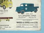 Budgie Toys Leaflet 1959 detail
