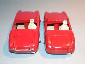 Budgie Miniatures No.16 Austin-Healey - rear trim variations