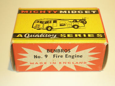 Benbros No.9 Fire Engine Mighty Midget box