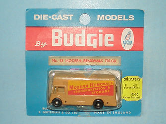 Budgie Miniatures No.58 Modern Removals Truck - blue blister-pack